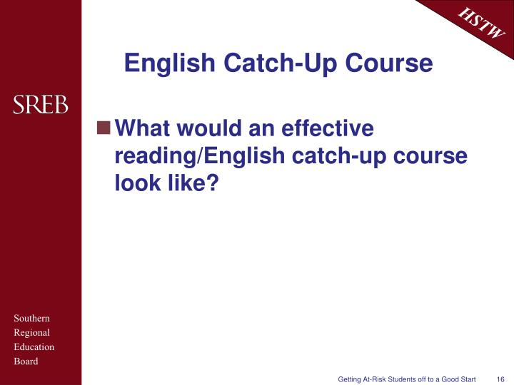 English Catch-Up Course