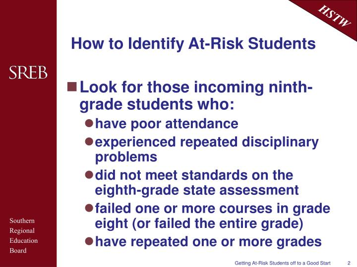 How to identify at risk students