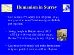 humanism in surrey