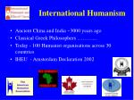 international humanism