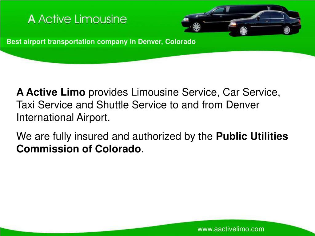 Best airport transportation company in Denver, Colorado