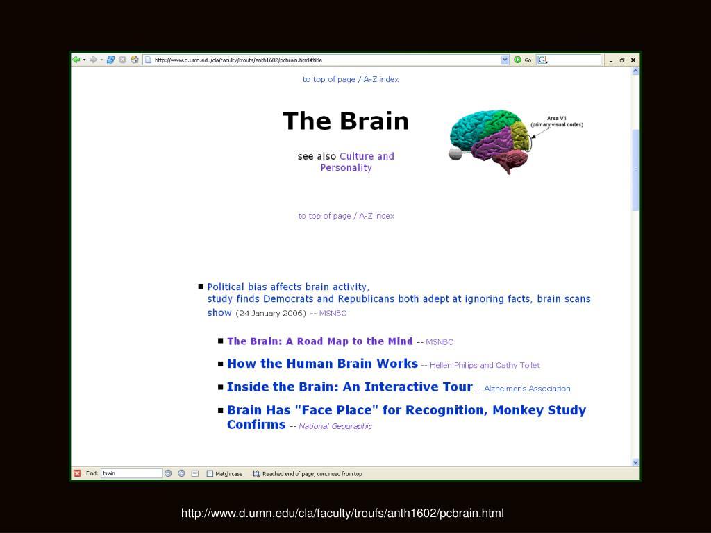 http://www.d.umn.edu/cla/faculty/troufs/anth1602/pcbrain.html