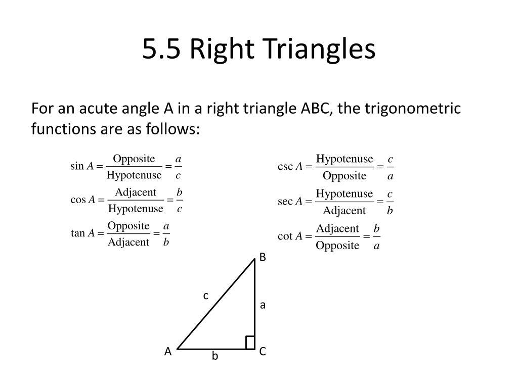 5.5 Right Triangles