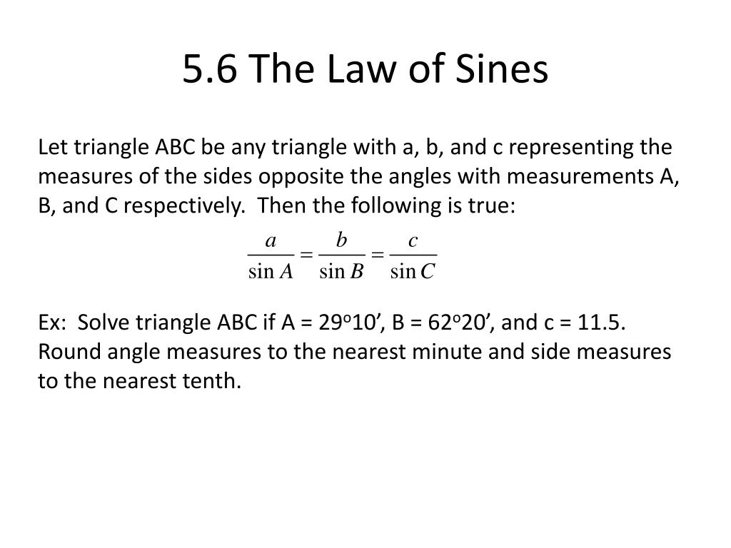 5.6 The Law of Sines