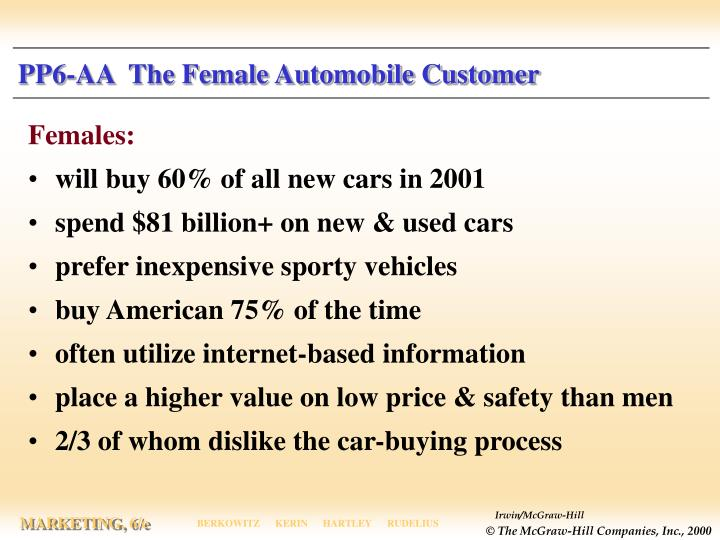 Pp6 aa the female automobile customer l.jpg