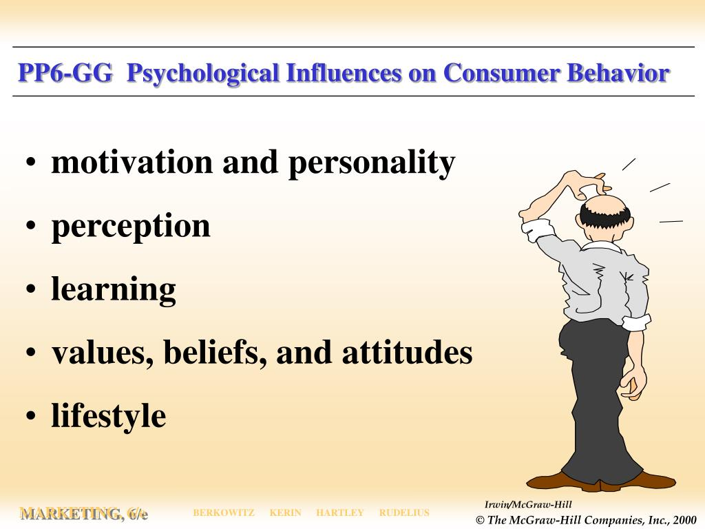 PP6-GG  Psychological Influences on Consumer Behavior