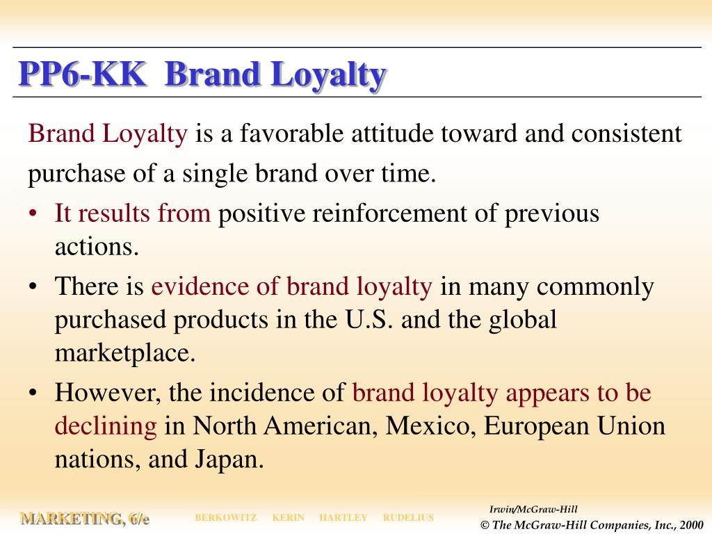 PP6-KK  Brand Loyalty
