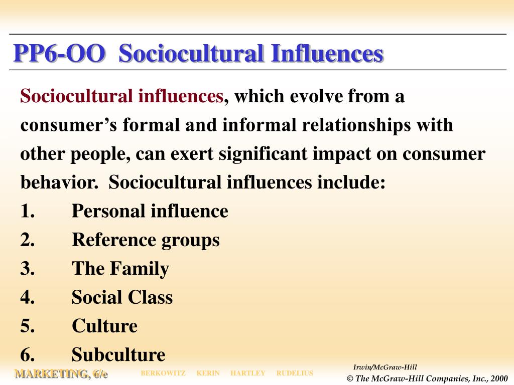 PP6-OO  Sociocultural Influences