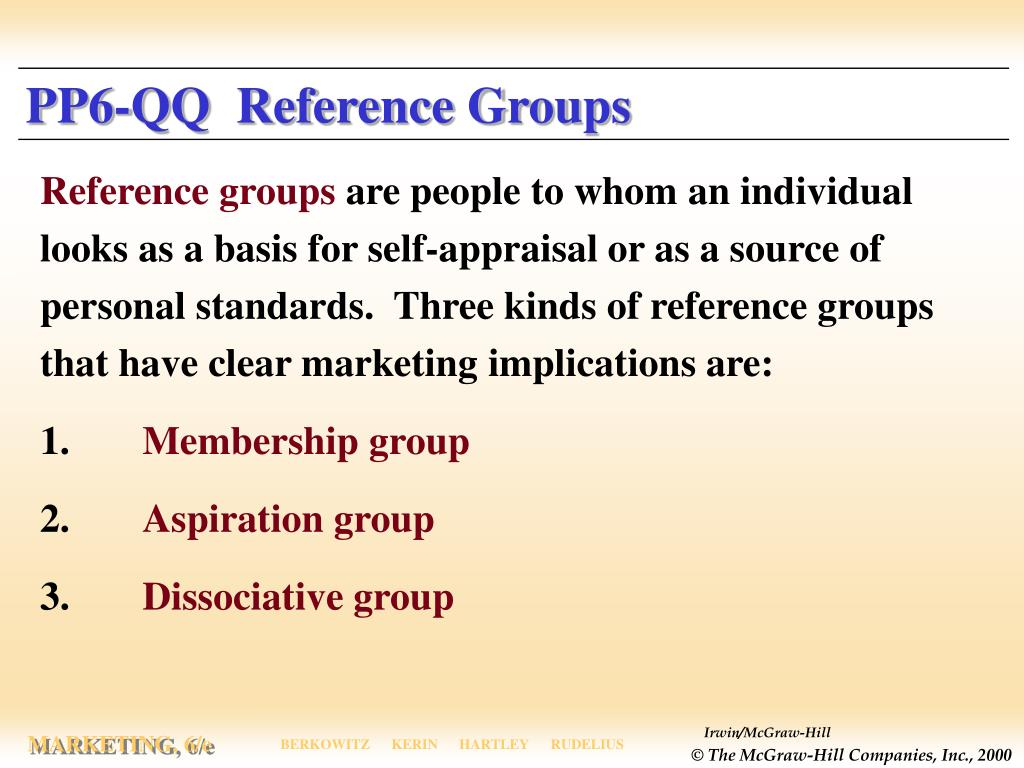 PP6-QQ  Reference Groups