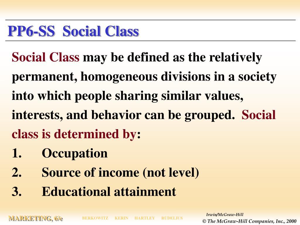 PP6-SS  Social Class
