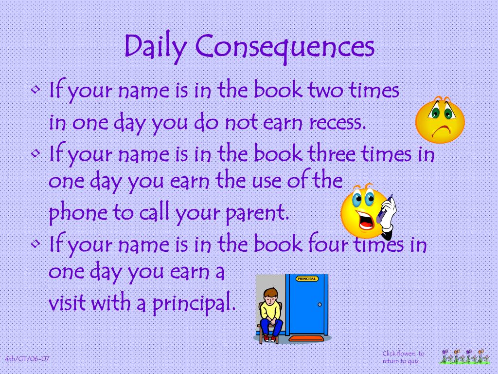 Daily Consequences