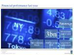 financial performance last year