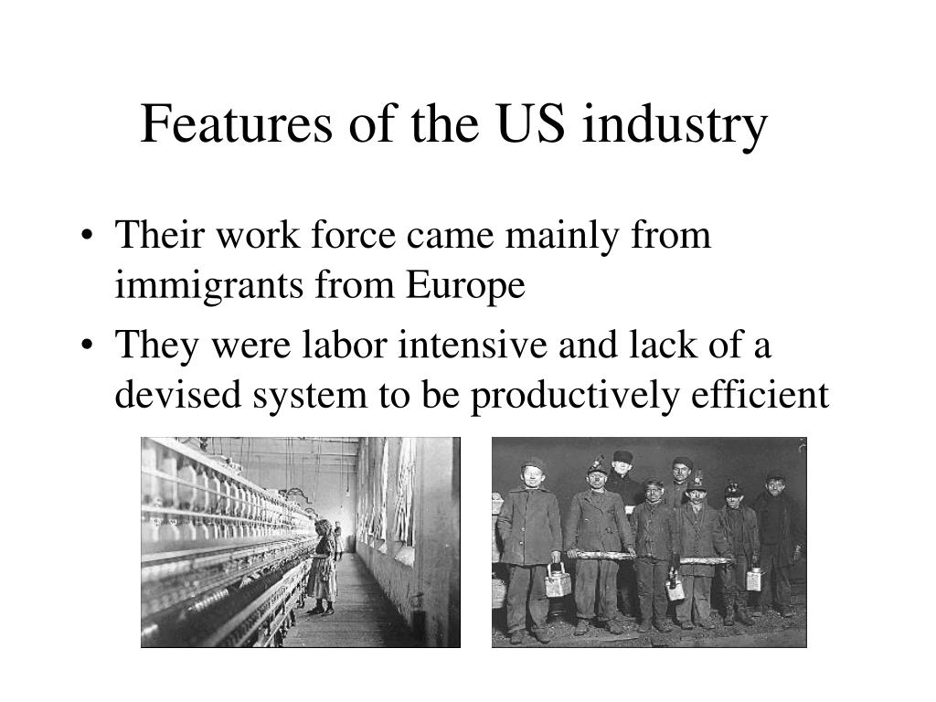 Features of the US industry