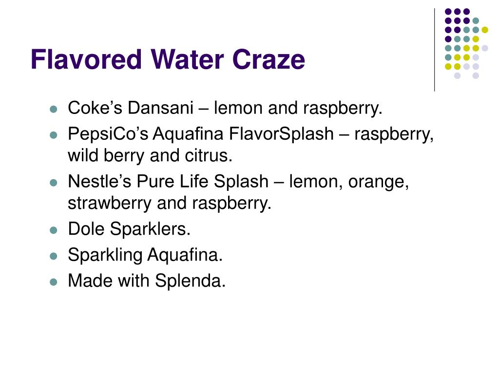Flavored Water Craze