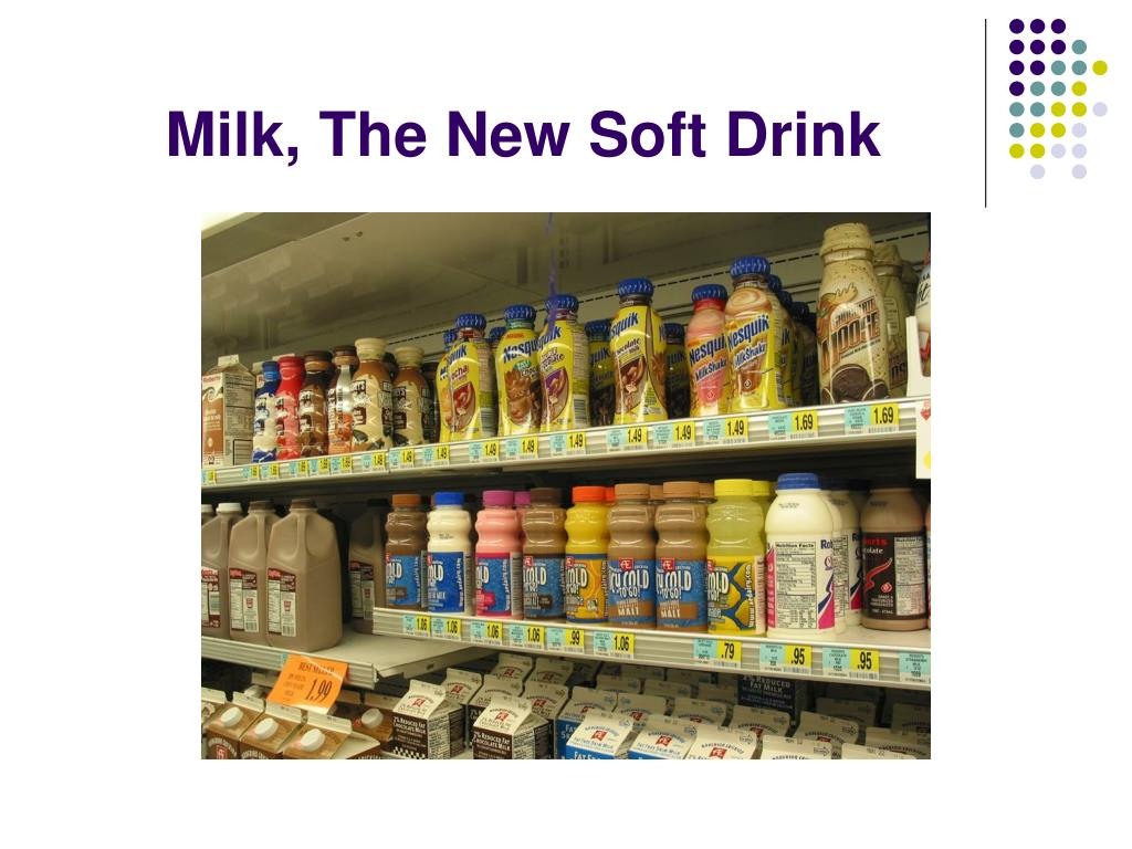 Milk, The New Soft Drink
