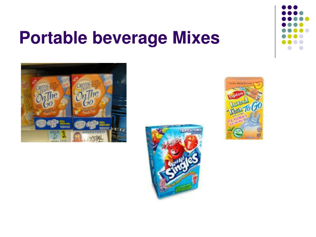 Portable beverage Mixes