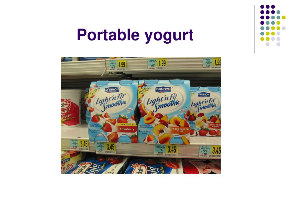 Portable yogurt