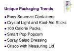 unique packaging trends