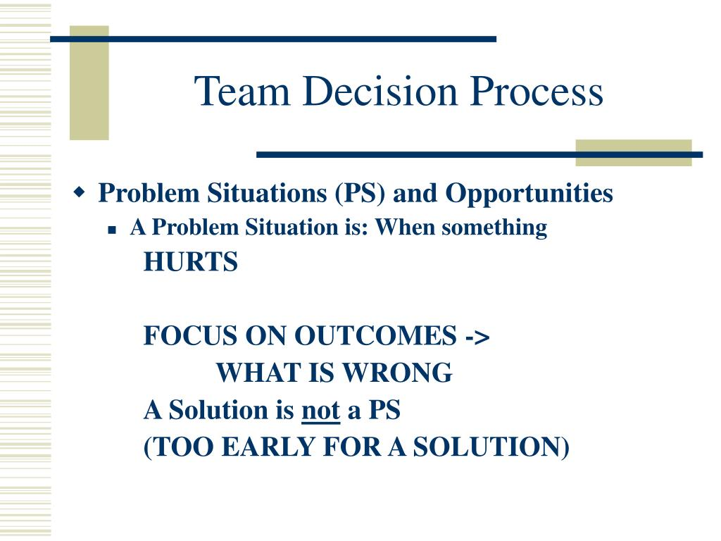 Team Decision Process