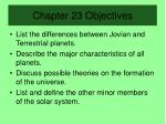 chapter 23 objectives
