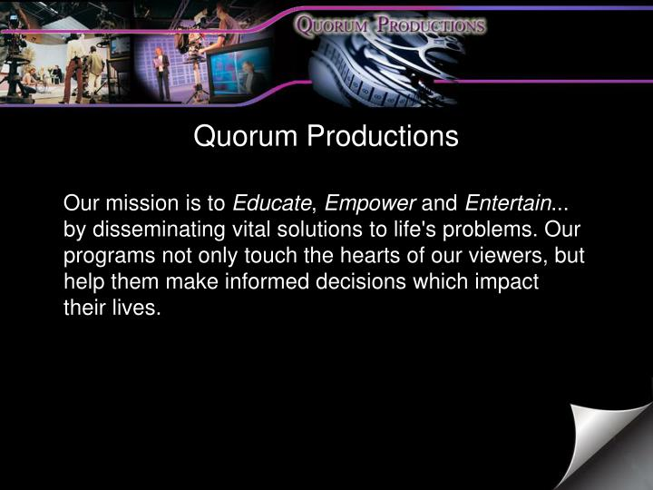 Quorum Productions