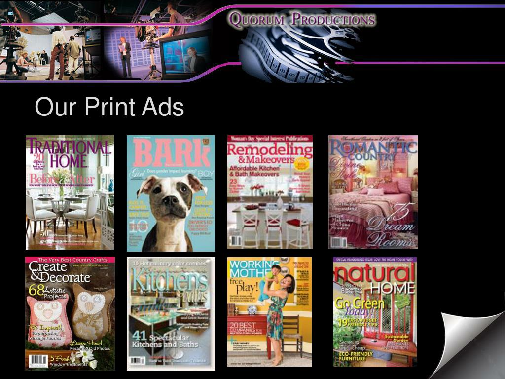 Our Print Ads