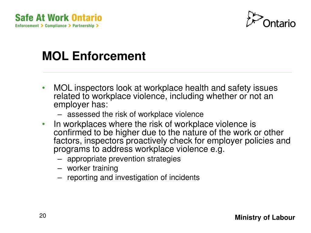 MOL Enforcement