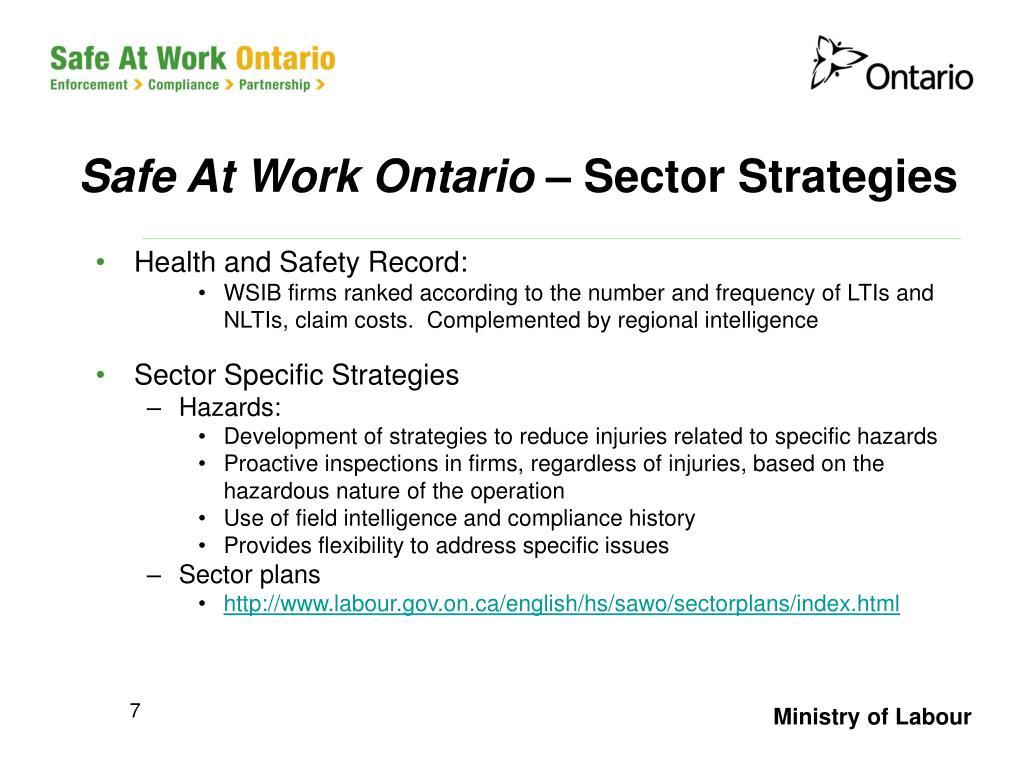 Safe At Work Ontario –