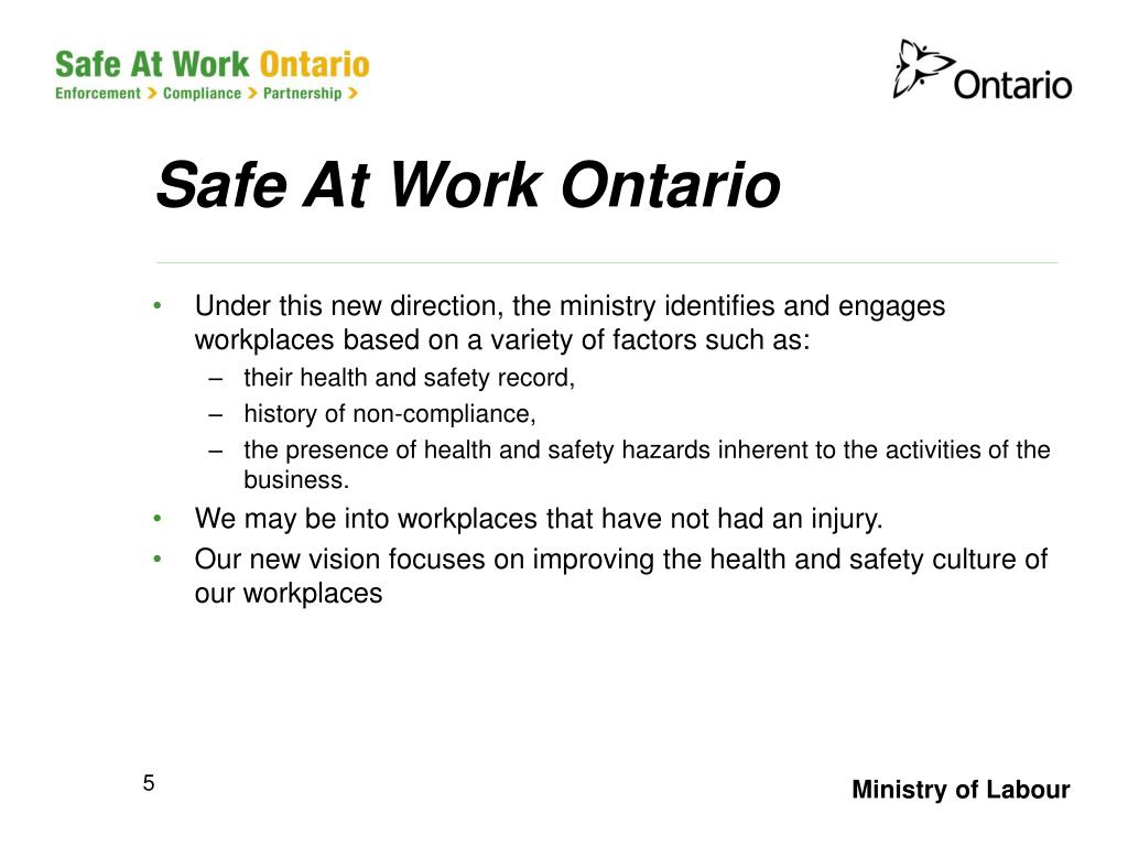 Safe At Work Ontario