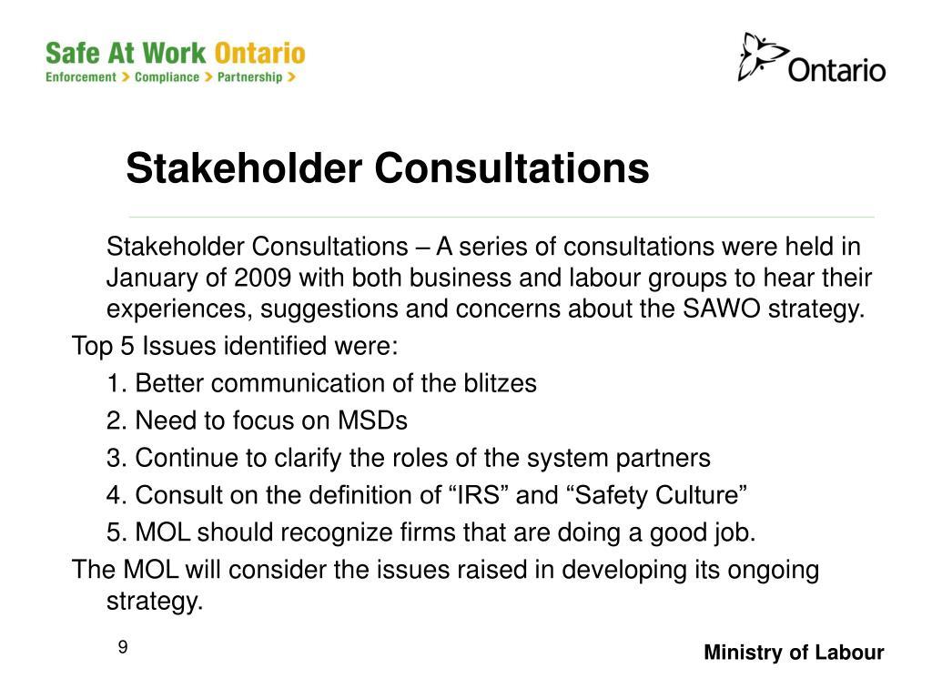 Stakeholder Consultations
