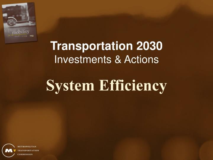 Transportation 2030