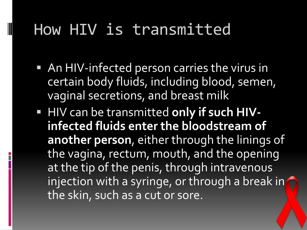 How HIV is transmitted