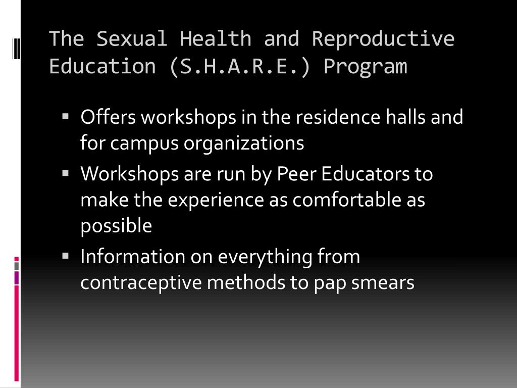 The Sexual Health and Reproductive Education (S.H.A.R.E.) Program