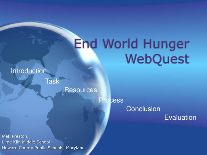 End world hunger webquest