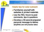 helpful tips for solar outreach