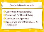 standards based approach