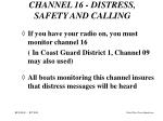channel 16 distress safety and calling