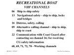 recreational boat vhf channels