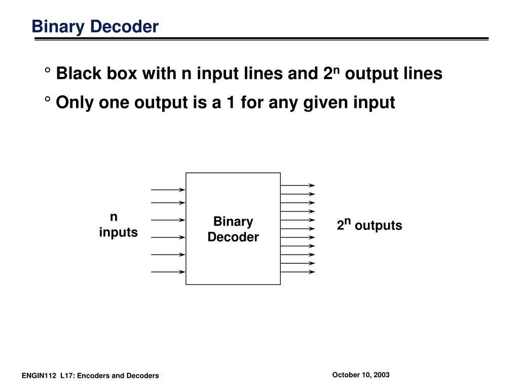 Binary Decoder
