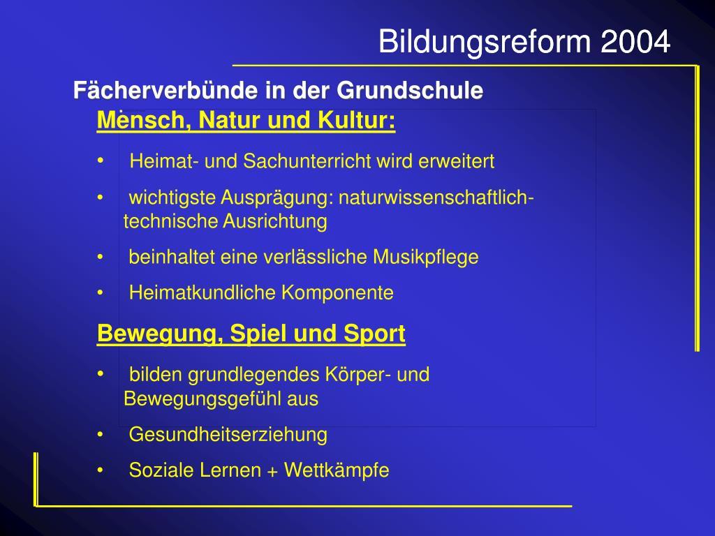 Bildungsreform 2004