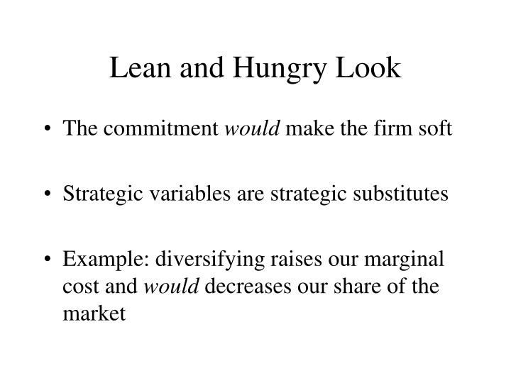 a lean hungry look analysis That lean and hungry look by suzanne britt write a one page analysis that describes what britt feels about thin people (p 499) be sure to use one quote from the essay to support your ideas and cite according to mla style/format.