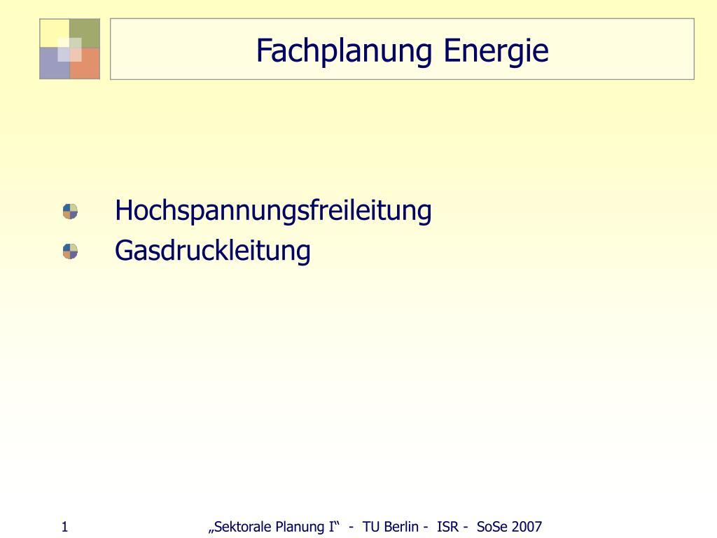 fachplanung energie