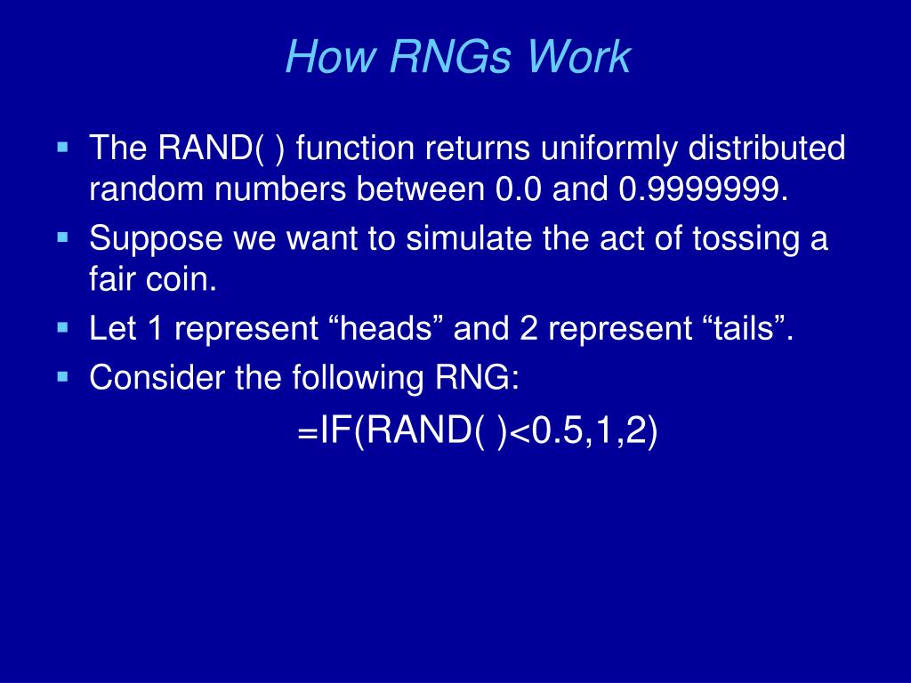 How RNGs Work