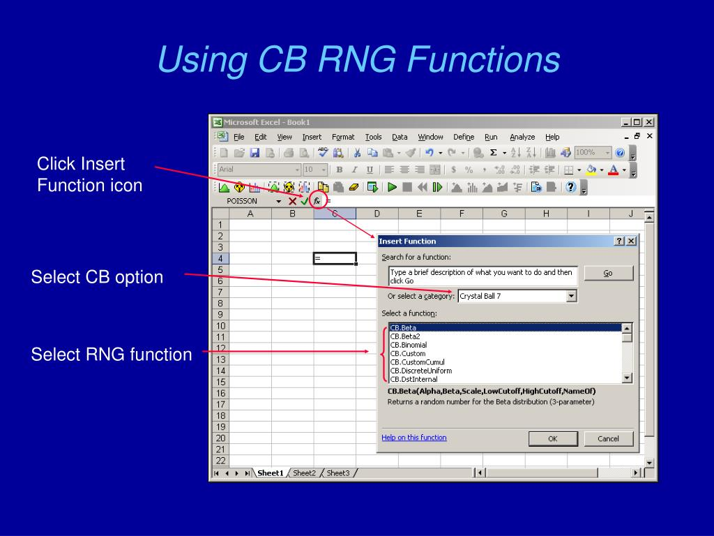 Using CB RNG Functions