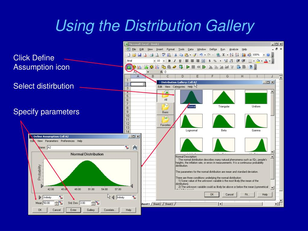 Using the Distribution Gallery