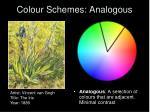 colour schemes analogous