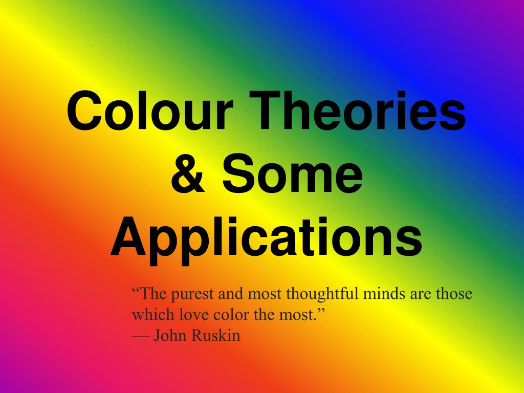 colour theories some applications
