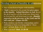 develop a heart of humility submission