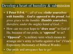 develop a heart of humility submission9