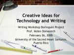 creative ideas for technology and writing